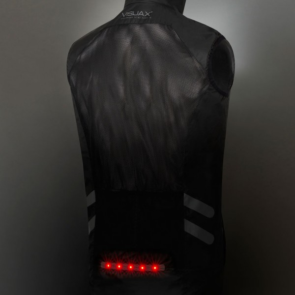 VISIJAX Gilet - Black - Full Back Lights on