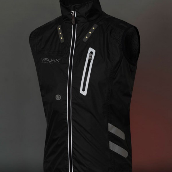 VISIJAX Gilet - Black - Full Front Lights off