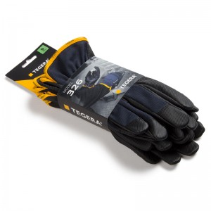 3pack-TEGERA®326 by Ejendals: Synthetic leather glove, Reinforced Fingertips, Cat. II, Grip Glove