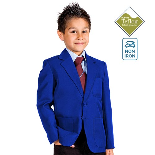 Boys' Machine-Washable School Blazer-burgundy-CBZB01N-royal