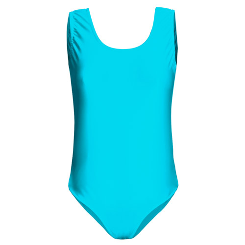 Girls' Hi-Stretch Shiny Sleeveless Leotards - DLTG01S-lt-turquoise