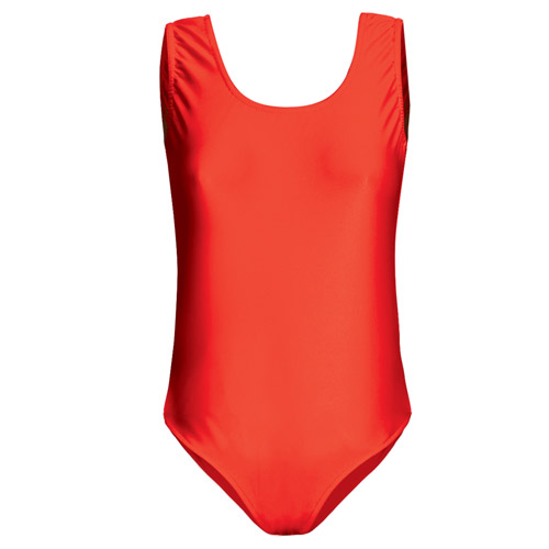 Girls' Hi-Stretch Shiny Sleeveless Leotards - DLTG01S-red