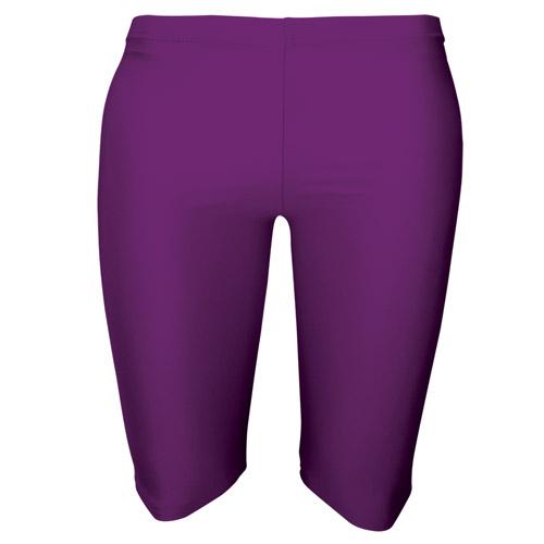 Girls' & Ladies' Hi-Stretch Shiny Dancing Shorts - Girls' & Ladies' Hi-Stretch Shiny Dancing Shorts - DSTG01S-purple