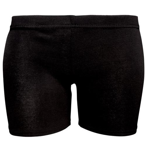 180gsm Girls Stretch Cotton Hot Pants - DSTG02C-black