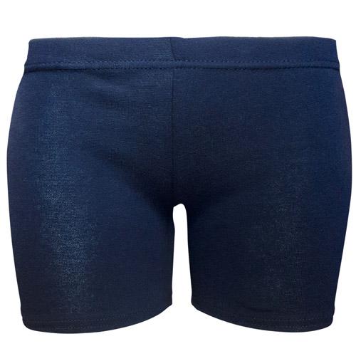 180gsm Girls Stretch Cotton Hot Pants - DSTG02C-navy