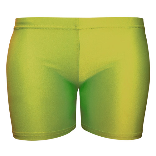 Girls' & Ladies' Hi-Stretch Shiny Hot Pants - DSTG02S-green