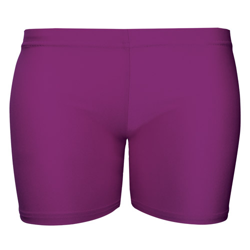 Girls' & Ladies' Hi-Stretch Shiny Hot Pants - DSTG02S-purple