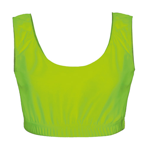 Girls' & Ladies' Hi-Stretch Shiny Crop Top-green