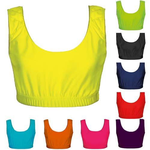 200gsm Girls Hi Stretch Shiny Crop Top - DTOG01S