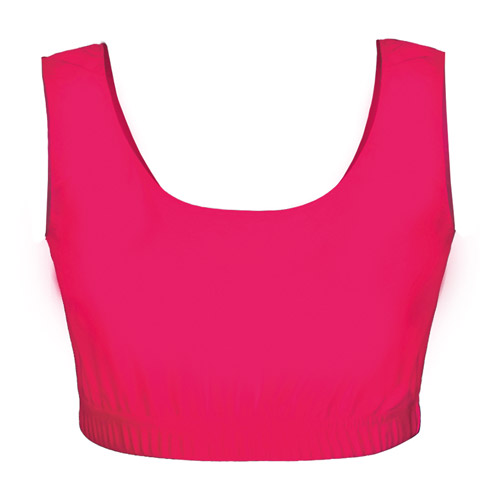 Girls' & Ladies' Hi-Stretch Shiny Crop Top-DTOG01S-DTOL01S-pink