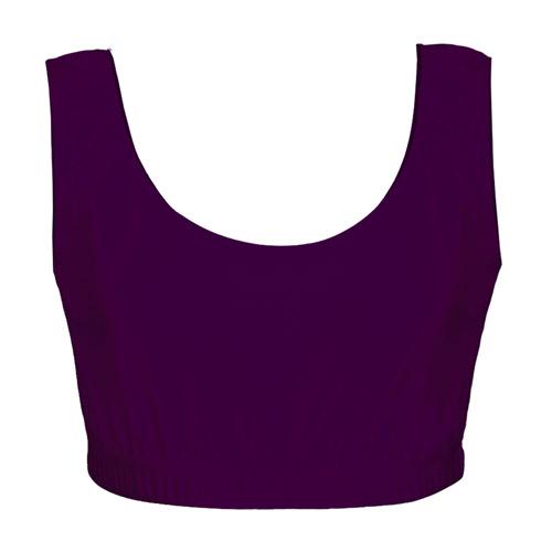Girls' & Ladies' Hi-Stretch Shiny Crop Top-purple