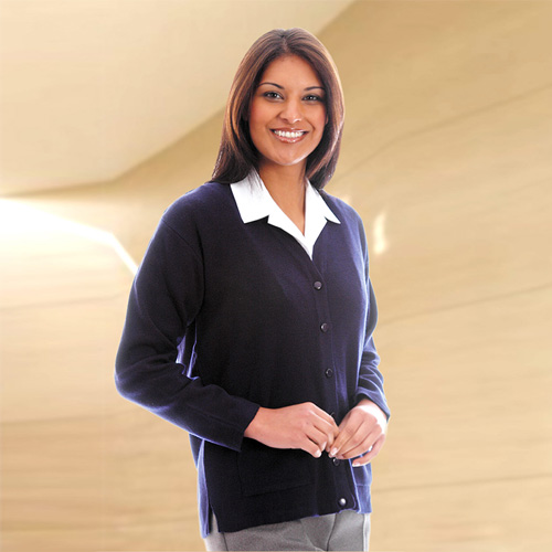 300g 100% Acrylic Ladies V-Neck Knitted Cardigan