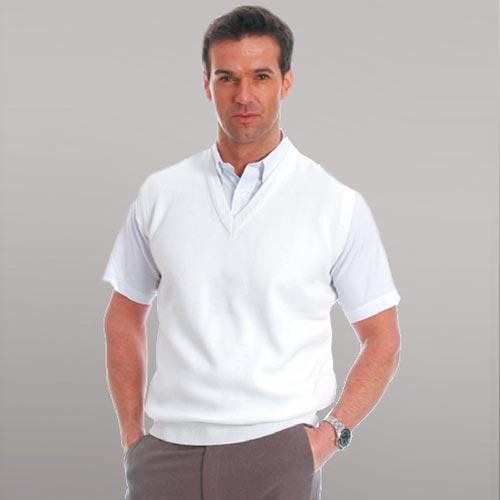 100% High Bulk Acrylic Bowling Fine Knit V-Neck Sleeveless Tank Top - PJUA02