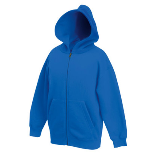 Kidswear, schoolwear, hooded, sweatshirt, full-zip, Double fabric, Kids' Hooded Full-Zip Set-In Sweatshirt - from CKL -SSHZK • Double fabric hood without drawcord in line with EC childrenswear legislation • Set-in sleeves • Jersey back neck tape • Narrow covered zip for enhanced printability • Two deep front pouch pockets-royal