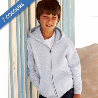 280g 80/20 CP Kids Classic Hooded Full-Zip Set-In Sweatshirt - SSHZK