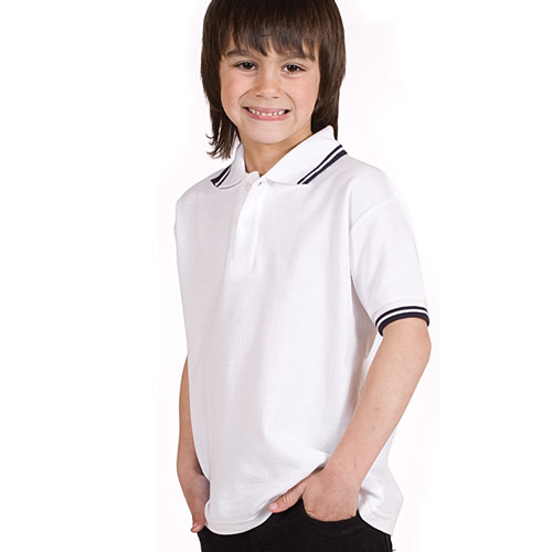 210gsm Kids Premium Tipped PC Polo - TPK02T