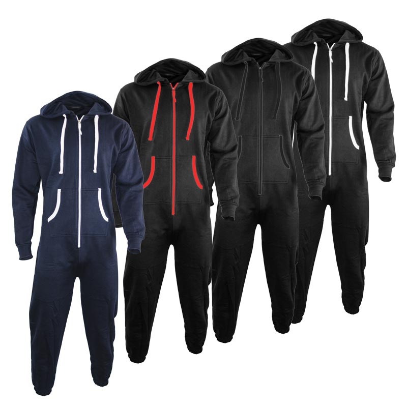 280gsm Adults Hoody Onesie Plain or Contrast TwoTone - TSA09