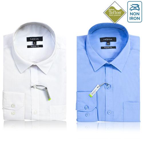 Noma Mens Classic Long Sleeve Shirt NanoTech Fabric - NSHA01