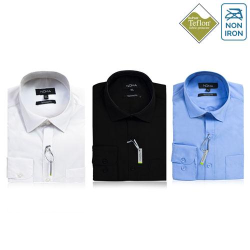 Noma Mens Tailored Classic Long Sleeve Shirt NanoTech Fabric - NSHA01T