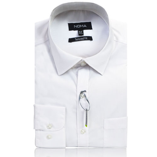 NSHA01T-Noma Men's Tailored Classic Shirt L/S-white
