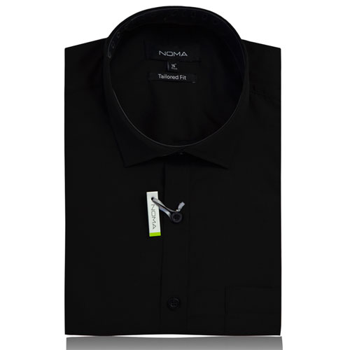 NSHA02T-Noma Men's Tailored Classic Shirt S/S-black