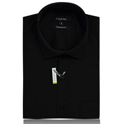 NSHA02T-Noma Men's Tailored Classic Shirt S/S-black