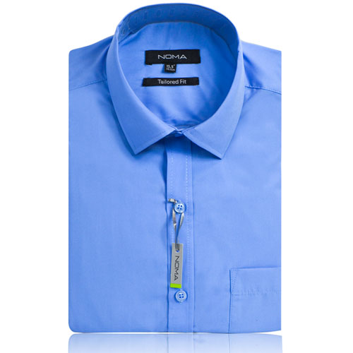 NSHA02T-Noma Men's Tailored Classic Shirt S/S-blue