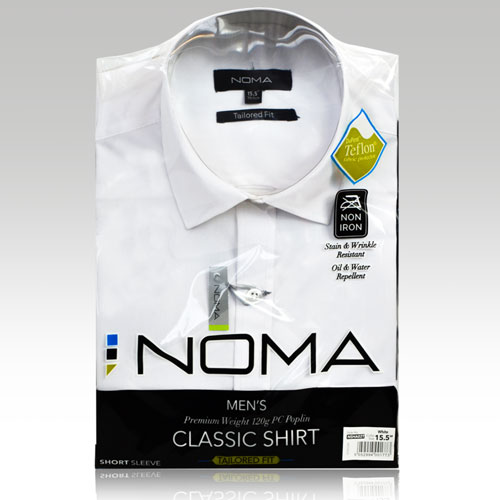 NSHA02T-Noma Men's Tailored Classic Shirt S/S-white-pck