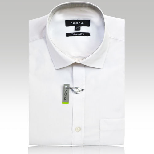 NSHA02T-Noma Men's Tailored Classic Shirt S/S-white