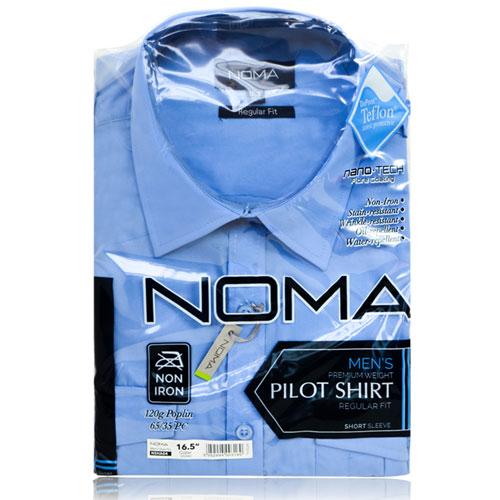 NSHA04-Noma Men's Pilot Shirt S/S-blue-pck