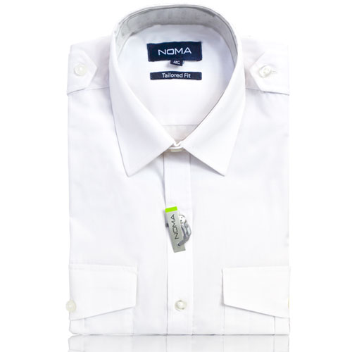 NSHA04T-Noma Men's Pilot Shirt S/S-white