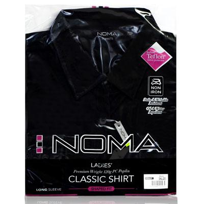 NSHL01-Noma Ladies Classic Shirt L/S-black-pck