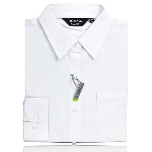 NSHL01-Noma Ladies Classic Shirt L/S-white