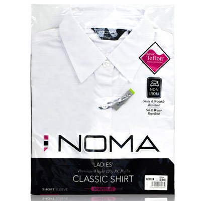 NSHL02-Noma Ladies Classic Shirt S/S-white-pck