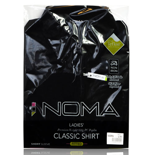 NSHL02F-Noma Ladies Classic Fitted Shirt S/S-black-pck