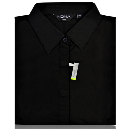 NSHL02F-Noma Ladies Classic Fitted Shirt S/S-black
