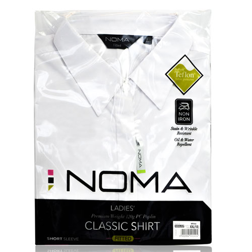 NSHL02F-Noma Ladies Classic Fitted Shirt S/S-white-pck