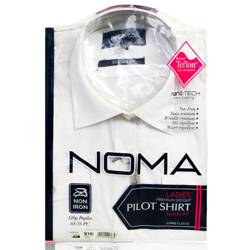 NSHL03-Noma Ladies Classic Shirt L/S-white-pck
