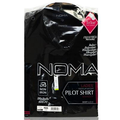 NSHL04-Noma Ladies Pilot Shirt S/S-black-pck