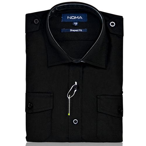 NSHL04-Noma Ladies Pilot Shirt S/S-black