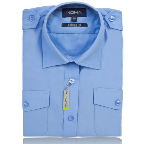 NSHL04-Noma Ladies Pilot Shirt S/S-blue