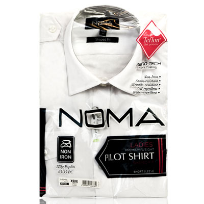 NSHL04-Noma Ladies Pilot Shirt S/S-white-pck