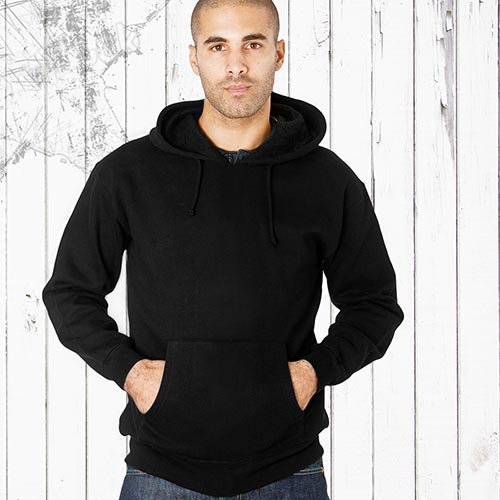 Adults 70/30CP Hooded Raglan Sweats-TSA04-Black