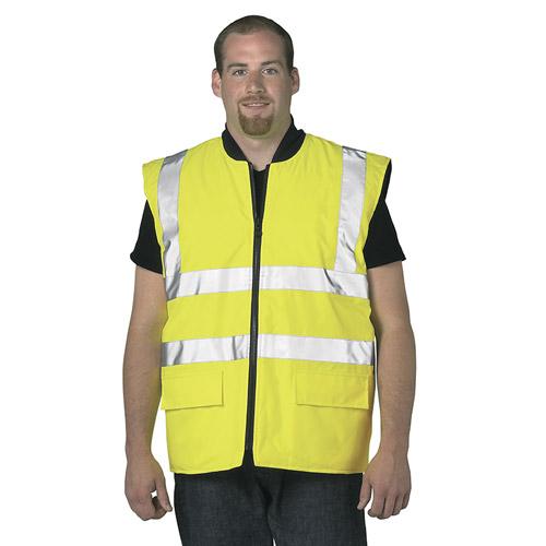 Hi Vis Reversible Bodywarmer-WBWA469-yellow