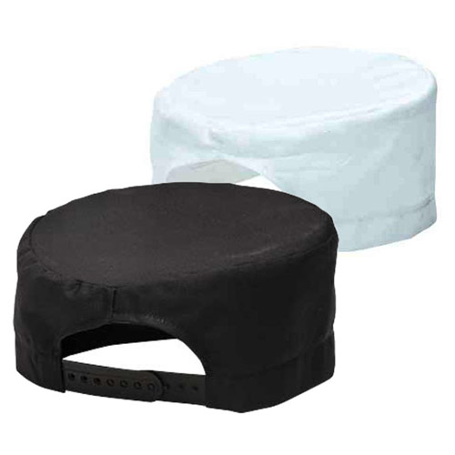 Chefs Skull Cap-WCHA899-black-and-white