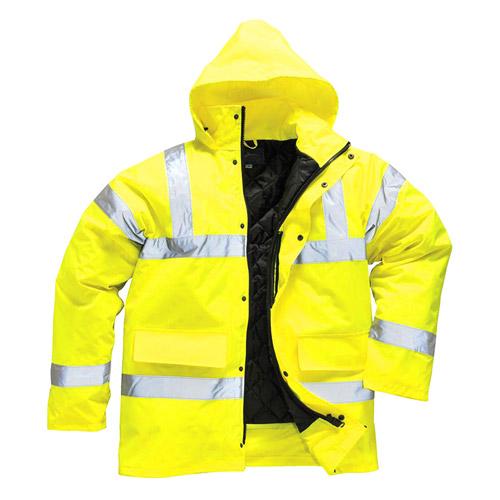 Hi Vis Traffic Jacket-WJAA460-yellow
