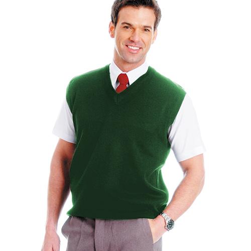 300gsm Wool Mix Sleeveless V-Neck Knitted Pullover - WJUA02_bottle