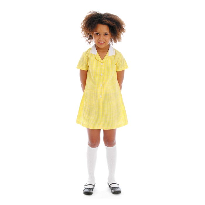 CLEARANCE - Girls' Gingham Check Dress - CDRK01