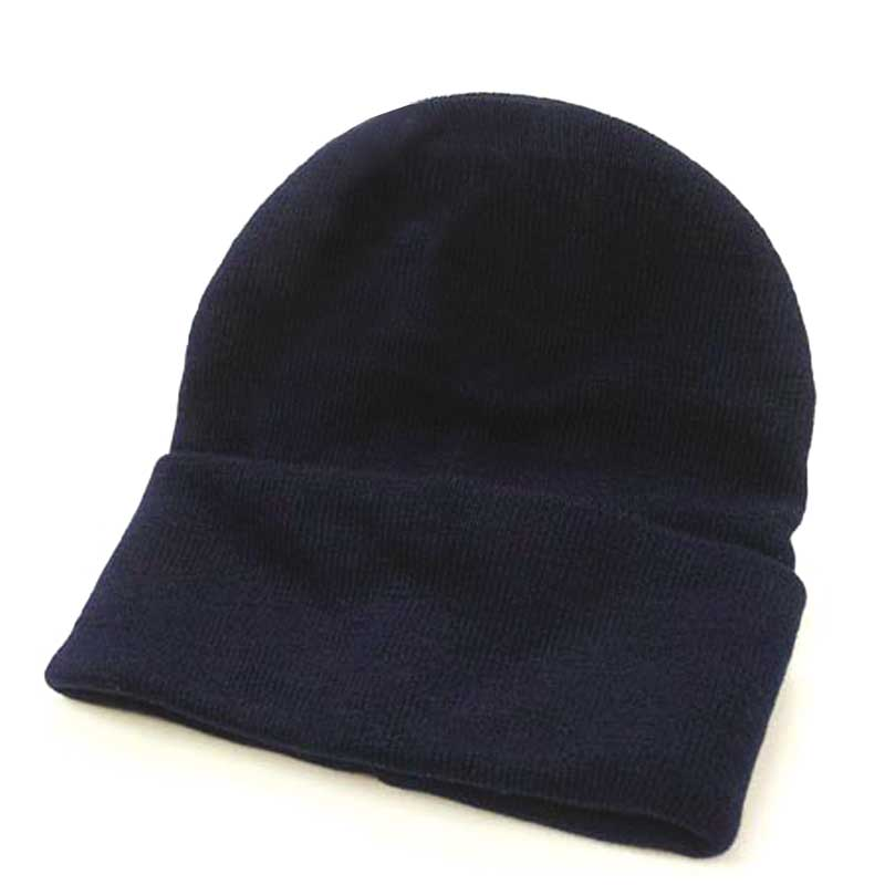 Fine Gauge Knitted Woolly Beanie Hat - GHAA02-navy