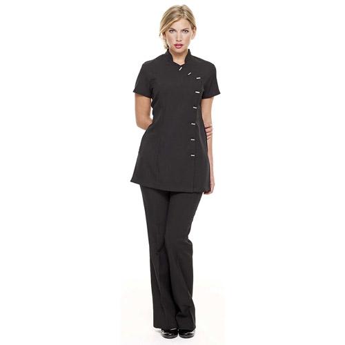 Ladies' Asymmetrical Beauty Tunic - HTULBT1-BLACK